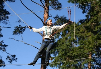 Adventure park high ropes